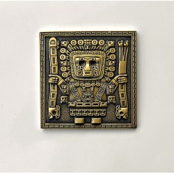 Tiwanaku Geocoin Antique gold