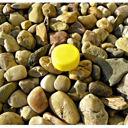 Víčko žluté PET keška mikro
