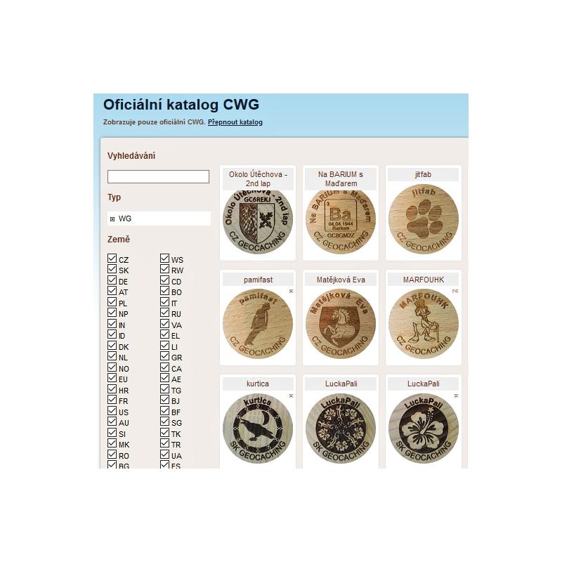 Registrace CWG do oficiálního katalogu