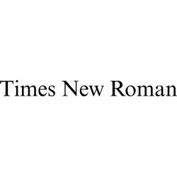 Písmo Times New Roman