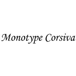 Písmo Monotype Corsiva
