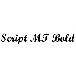 Písmo Script MT Bold