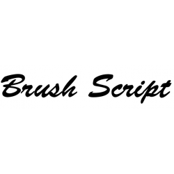 Písmo Brush Script